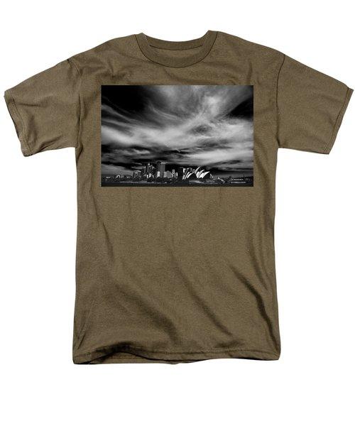 Sydney Skyline With Dramatic Sky Men's T-Shirt  (Regular Fit) by Avalon Fine Art Photography
