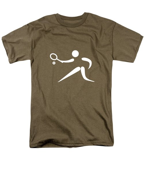 Tennis Player Men's T-Shirt  (Regular Fit) by Frederick Holiday