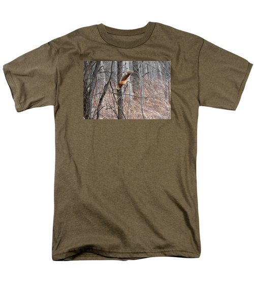 The American Woodcock In-flight Men's T-Shirt  (Regular Fit) by Asbed Iskedjian
