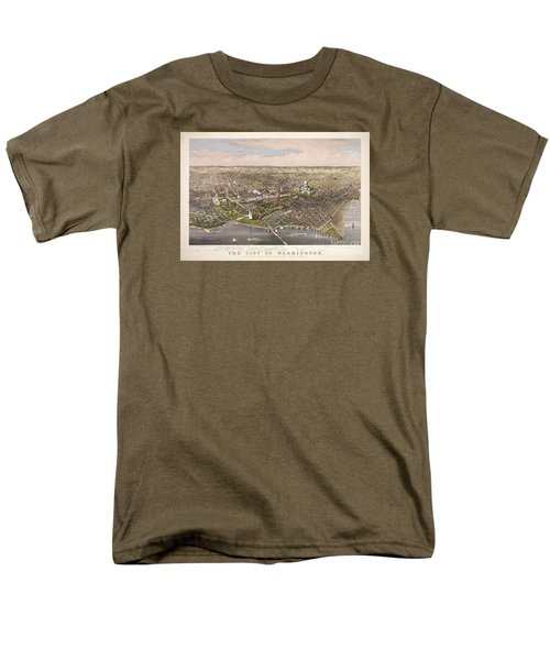 The City Of Washington Men's T-Shirt  (Regular Fit) by Charles Richard Parsons