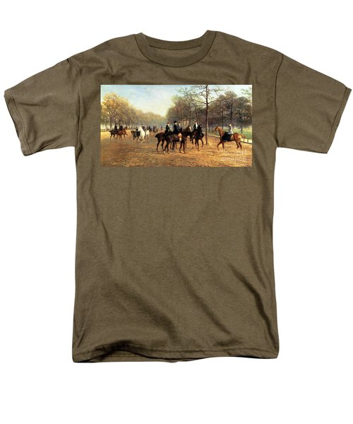 The Morning Ride Rotten Row Hyde Park Men's T-Shirt  (Regular Fit) by Heywood Hardy