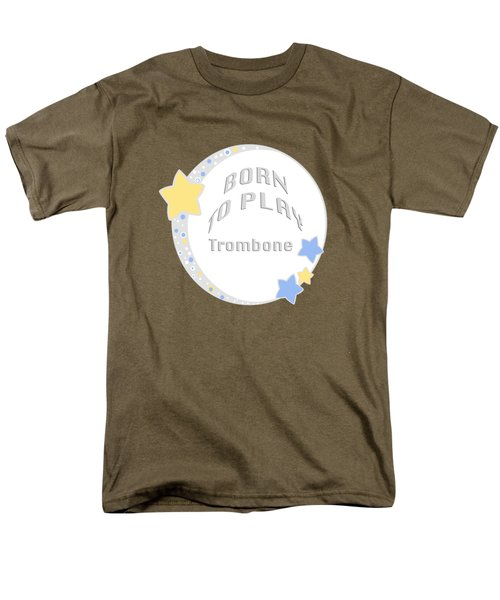 Trombone Born To Play Trombone 5675.02 Men's T-Shirt  (Regular Fit) by M K  Miller