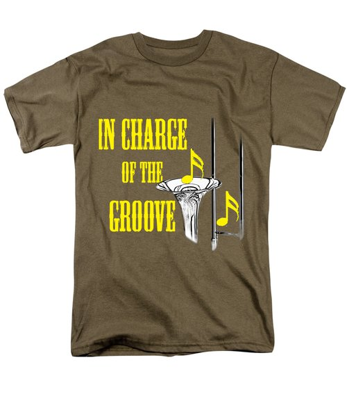Trombones In Charge Of The Groove 5534.02 Men's T-Shirt  (Regular Fit) by M K  Miller