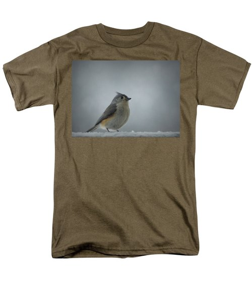 Tufted Titmouse In The Snow Men's T-Shirt  (Regular Fit) by Cricket Hackmann