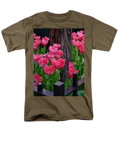 Tulips And Tree Men's T-Shirt  (Regular Fit) by Mike Nellums