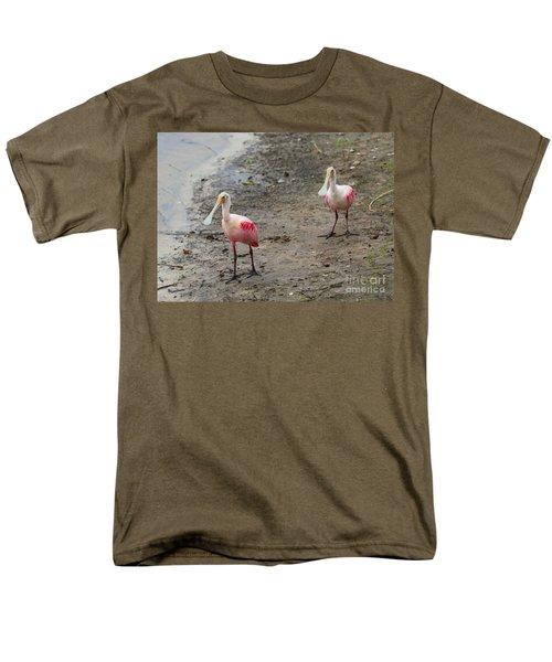 Two Roseate Spoonbills 2 Men's T-Shirt  (Regular Fit) by Carol Groenen