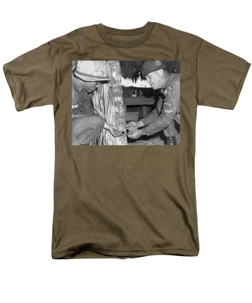 Viet Cong Booby Trap Men's T-Shirt  (Regular Fit) by Underwood Archives
