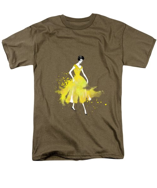 Vintage Yellow Dress Men's T-Shirt  (Regular Fit) by Diana Van