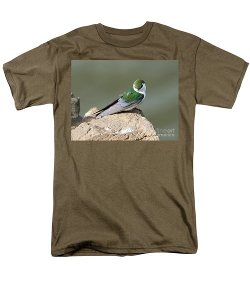 Violet-green Swallow Men's T-Shirt  (Regular Fit) by Mike Dawson