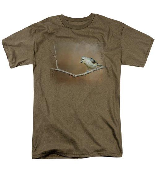 Visiting Tufted Titmouse Men's T-Shirt  (Regular Fit) by Jai Johnson