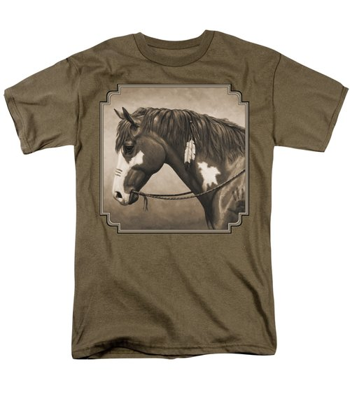 War Horse Aged Photo Fx Men's T-Shirt  (Regular Fit) by Crista Forest