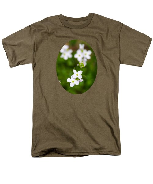 White Cuckoo Flowers Men's T-Shirt  (Regular Fit) by Christina Rollo