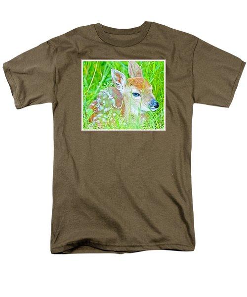 Men's T-Shirt  (Regular Fit) featuring the photograph Whitetailed Deer Fawn by A Gurmankin