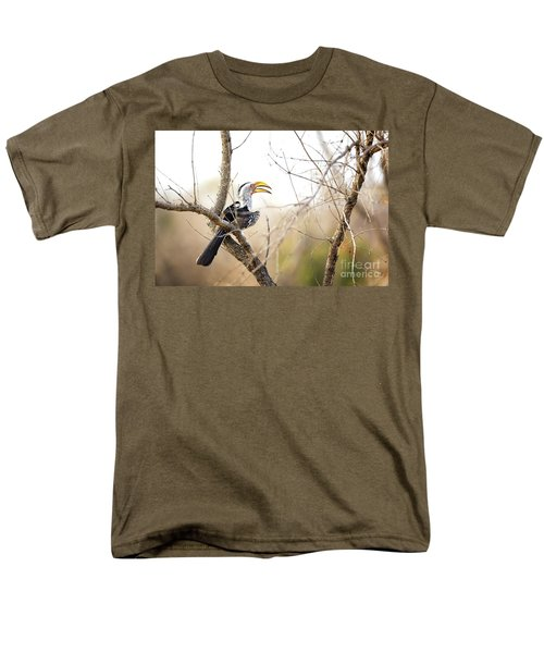 Yellow-billed Hornbill Sitting In A Tree.  Men's T-Shirt  (Regular Fit) by Jane Rix