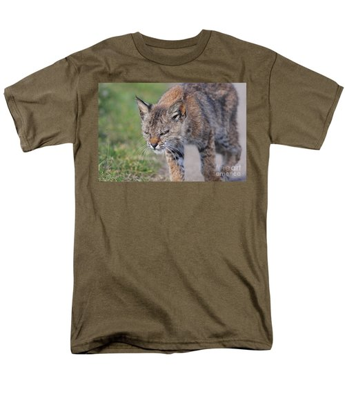 Young Bobcat 03 T-Shirt by Wingsdomain Art and Photography