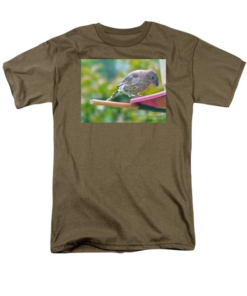 Young Crossbill Female  August  Indiana Men's T-Shirt  (Regular Fit) by Rory Cubel