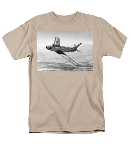 Men's T-Shirt  (Regular Fit) featuring the photograph F-86 Sabre, First Swept-wing Fighter by Science Source