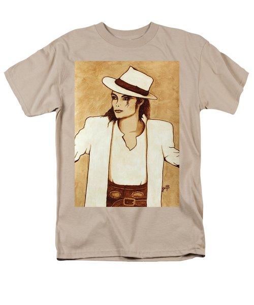 Michael Jackson original coffee painting T-Shirt by Georgeta  Blanaru