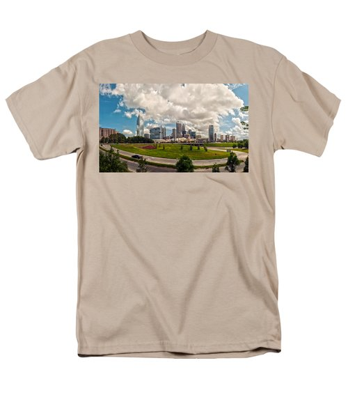 Skyline of Charlotte Towers T-Shirt by Alexandr Grichenko