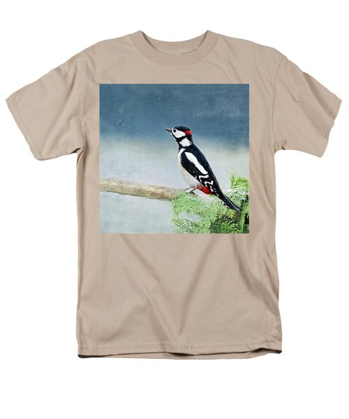 Woodpecker Men's T-Shirt  (Regular Fit) by Heike Hultsch