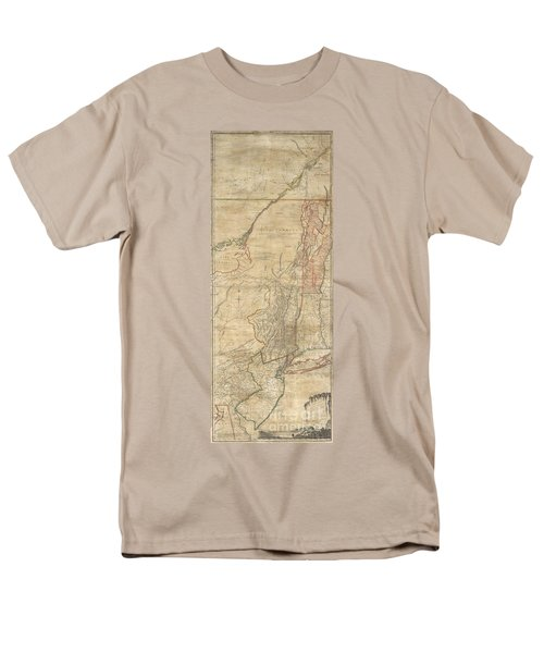 1768 Holland  Jeffreys Map of New York and New Jersey  T-Shirt by Paul Fearn
