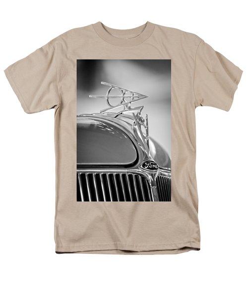 1936 Ford Deluxe Roadster Hood Ornament 2 T-Shirt by Jill Reger
