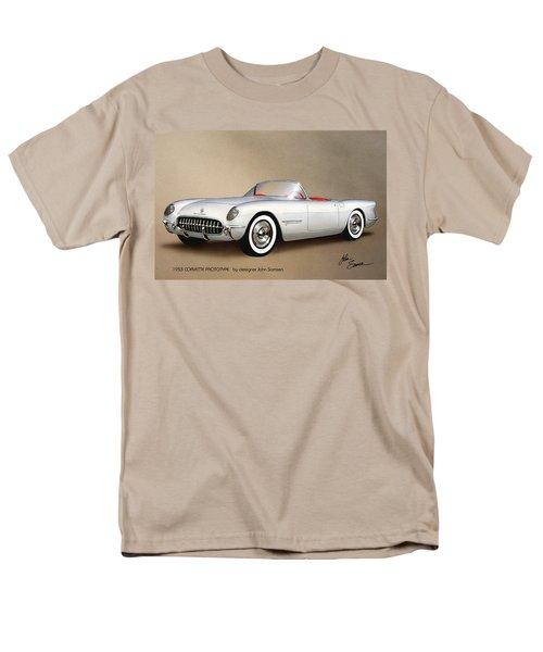 1953 Corvette Classic Vintage Sports Car Automotive Art Men's T-Shirt  (Regular Fit) by John Samsen
