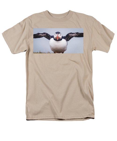 Atlantic Puffin Fratercula Arctica Men's T-Shirt  (Regular Fit) by Panoramic Images