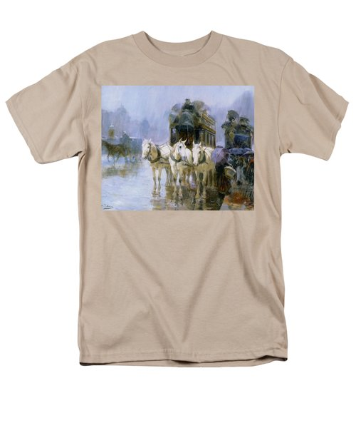 A Rainy Day In Paris T-Shirt by Ulpiano Checa y Sanz