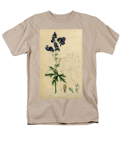Aconitum Napellus by Sowerby T-Shirt by Philip Ralley