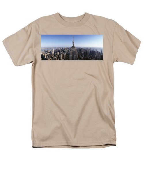 Aerial View Of A Cityscape, Empire Men's T-Shirt  (Regular Fit) by Panoramic Images