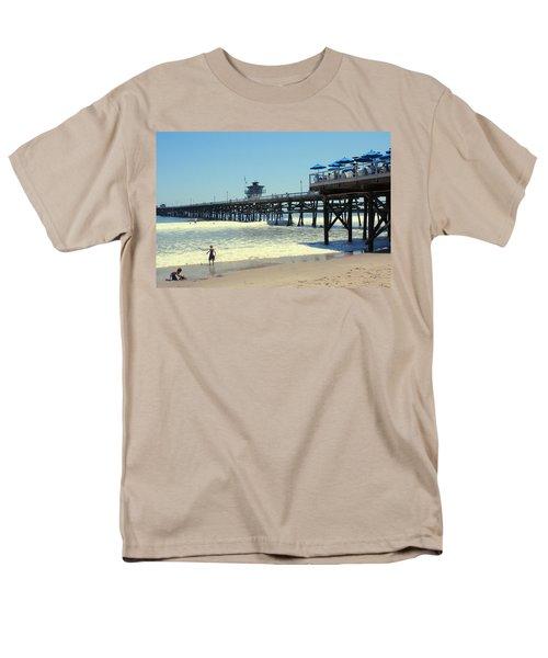 Beach View With Pier 1 T-Shirt by Ben and Raisa Gertsberg