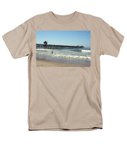 Beach View With Pier 2 T-Shirt by Ben and Raisa Gertsberg