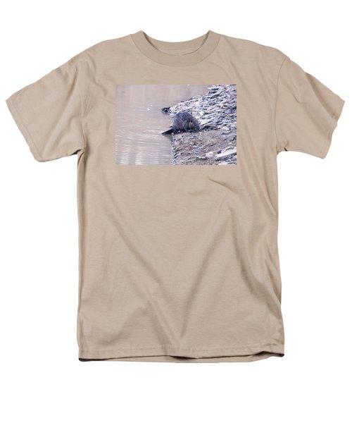 Beaver On Dry Land Men's T-Shirt  (Regular Fit) by Chris Flees