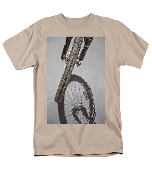 Biking In The Rain T-Shirt by Karol  Livote