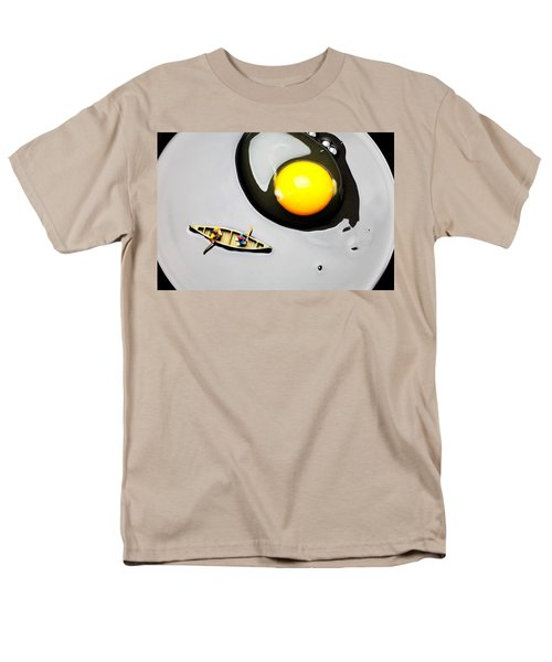 Boating around egg little people on food T-Shirt by Paul Ge