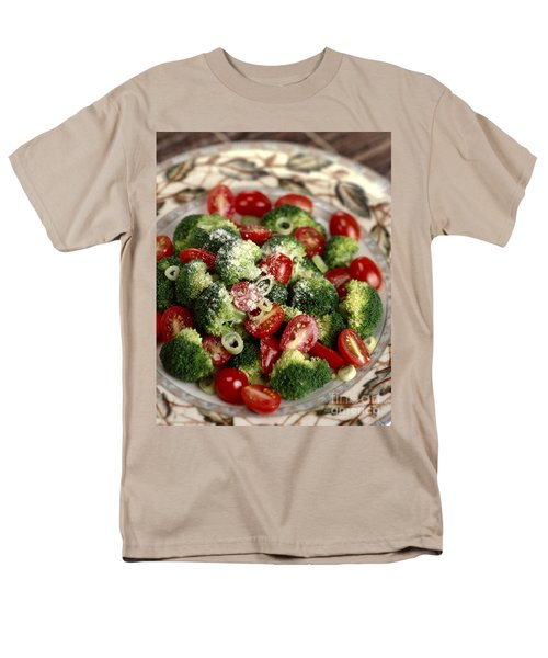 Broccoli And Tomato Salad Men's T-Shirt  (Regular Fit) by Iris Richardson