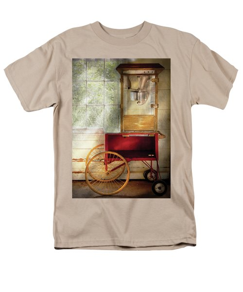 Carnival - The popcorn cart T-Shirt by Mike Savad