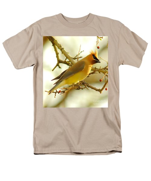Cedar Waxwing Men's T-Shirt  (Regular Fit) by Robert Frederick
