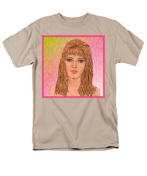 Coloured Pencil Self Portrait T-Shirt by Joan-Violet Stretch