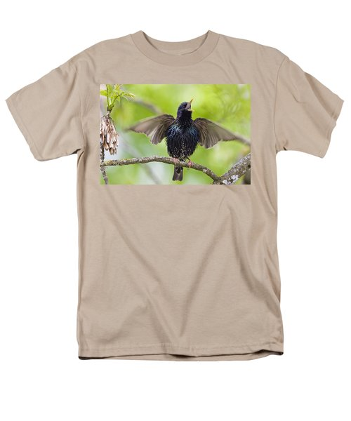 Common Starling Singing Bavaria Men's T-Shirt  (Regular Fit) by Konrad Wothe