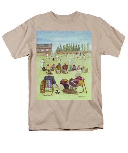 Cricket On The Green, 1987 Watercolour On Paper Men's T-Shirt  (Regular Fit) by Gillian Lawson