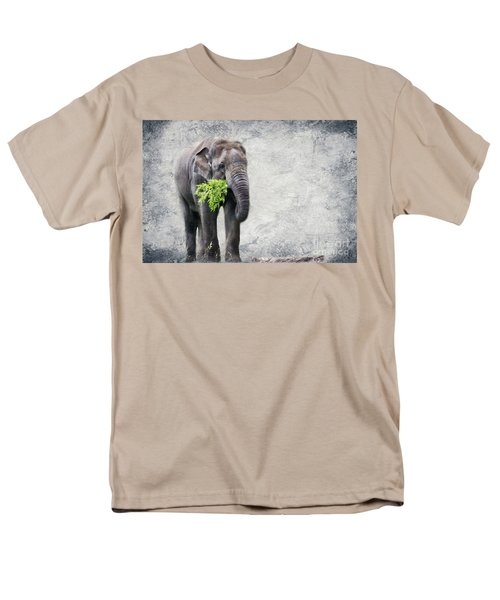 Elephant With A Snack T-Shirt by Tom Gari Gallery-Three-Photography