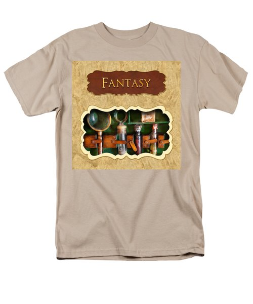 Fantasy button T-Shirt by Mike Savad