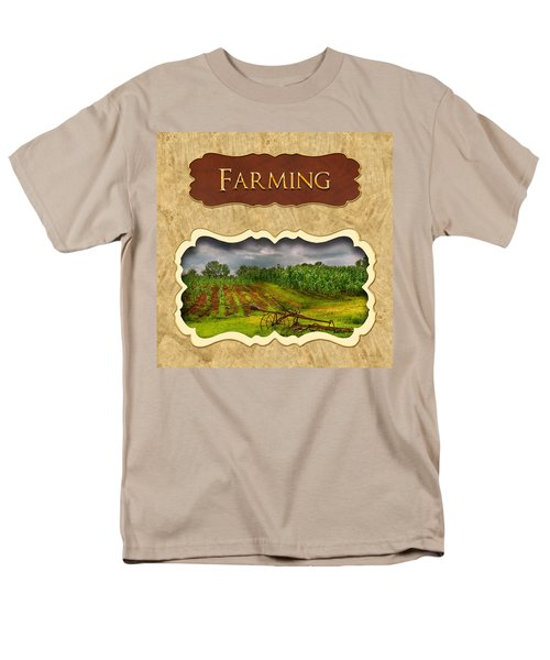 Farming and country life button T-Shirt by Mike Savad