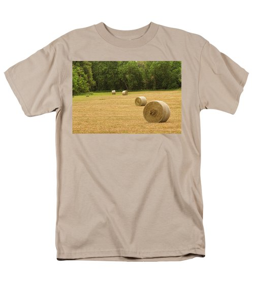 Field of Freshly Baled Round Hay Bales T-Shirt by James BO  Insogna