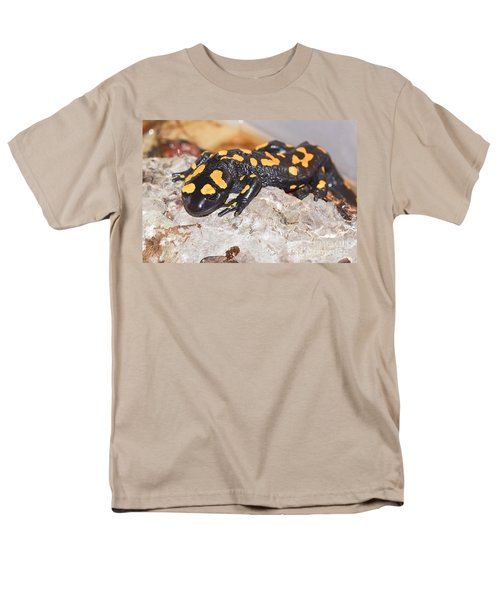 Fire Salamander Salamandra Salamandra Men's T-Shirt  (Regular Fit) by Shay Levy