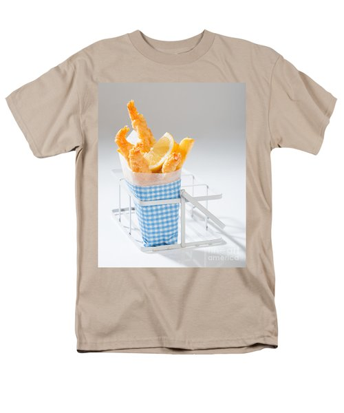 Fish And Chips Men's T-Shirt  (Regular Fit) by Amanda Elwell