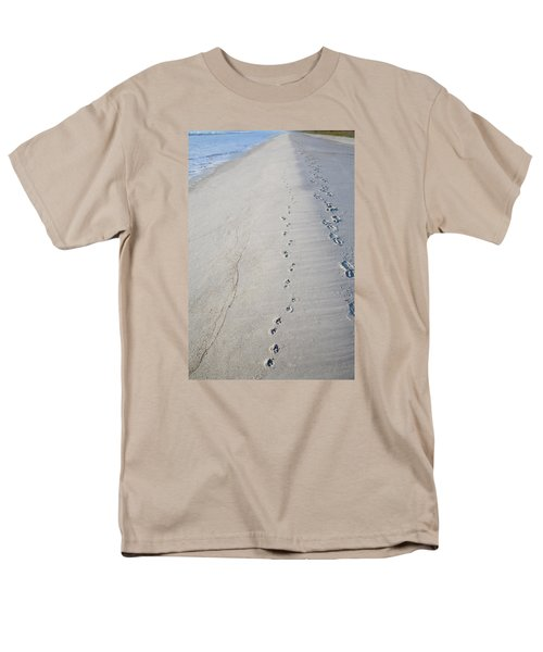 Footprints and Pawprints T-Shirt by Diane Macdonald