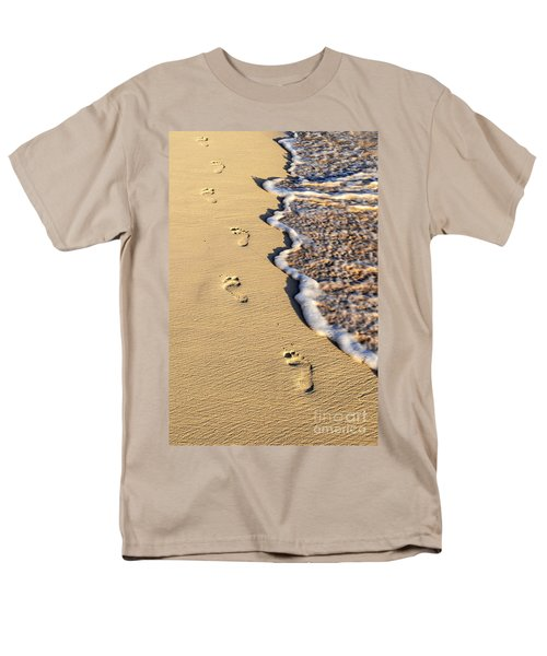 Footprints on beach T-Shirt by Elena Elisseeva